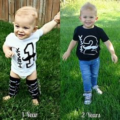 Every lil' man turning two years old needs this adorable, personalized moustache tee to ring in his 2nd birthday celebration! Our mustache boys birthday shirt comes on either a black t shirt with white design (as pictured) or white t shirt with black design.