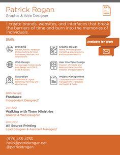 Resume/Portfolio 70 Well-Designed Resume Examples For Your Inspiration