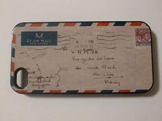 Hard iPhone Case Vintage Letter Envelope Custom by CreateItYourWay-etsy