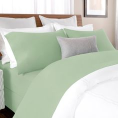 Briarwood Home 100% Cotton Solid Percale Sheet Set Size: Cal King, Color: Spruce Green