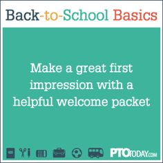 Back-to-School Basics: Do a welcome packet