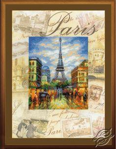Cities of the World - Paris - Cross Stitch Kits by RIOLIS - PT-0018