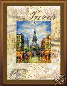 Cities of the World - Paris - Cross Stitch Kits by RIOLIS - PT-0018