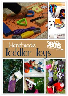 To help us occupy the hands and minds of our little ones AND save us a bit of dough, I have compiled a list of handmade toddler toys.