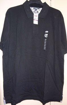 cc8838d8832 Ecko Unltd Unlimited Rhino Black Size 2 XL Wall Burner Polo Shirt Button  NEW NWT #EckoUnltd #PoloRugby