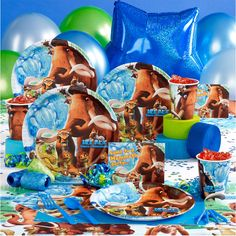 Ice Age party stuff