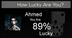 Check my results of How Lucky Are You? Facebook Fun App by clicking Visit Site button
