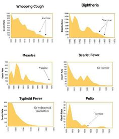 VACCINE FACTS - comprehensive look at vaccines, disease trends My opinion = Correlation and causation proven unrelated. Great timing by marketers of vaccines! Typhoid Fever, Whooping Cough, Asthma, Pediatrics, Scarlet, Medicine, Things To Come, Facts, Health And Wellness