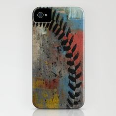 Painted Baseball iPhone Case for the cool baseball mom... @Dee Burmeister Baker