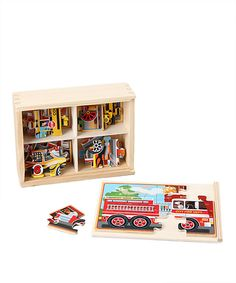 Another great find on #zulily! Melissa & Doug Melissa & Doug Vehicles Jigsaw Puzzle Set by Melissa & Doug #zulilyfinds