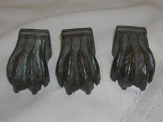 3 Vintage Claw Feet Table Legs Cover Metal DIY Wood Project Hardware  #ClawFeet