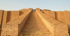 "The original ""Stairway to Heaven"". The grand staircase of the great ziggurat at Ur. The temple was dedicated to Nanna, the moon god."