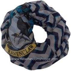 Harry Potter Ravenclaw Infinity Scarf Lightweight - Officially Licensed by Warner Bros. - Size - Fits Adults, Teens, and Children