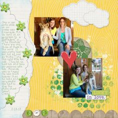 Layout by MelissaKay using Lucky Me Digital Scrapbooking Kit by Simple Girl Scraps