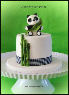 Sweet panda - Cake by Diane Gunst Panda Birthday Cake, Toddler Birthday Cakes, Crazy Cakes, Sweet Cakes, Cute Cakes, Fondant Cakes, Cupcake Cakes, Pastel Mickey, Bolo Panda