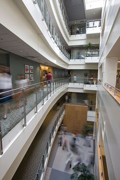 Science in motion.  Research Building II Atrium, The Research Institute at Nationwide Children's Hospital