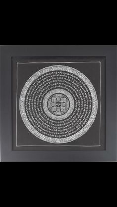 Hand painted Tibetan Mandala Frames   www.desideratadecor.com