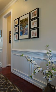 Hallway Wall Decor, Hallway Walls, Entry Hallway, Entryway Decor, Hallway Ideas, Alcove Decor, Wall Ideas, Room Decor, Narrow Hallway Decorating