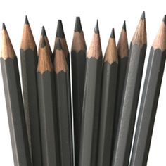 pencils! - Derwent makes a really nice and reasonably priced set of graphic pencils - http://amzn.to/Hl9dKI