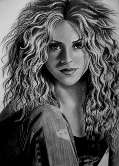 My favourite Shakira Drawing by AngelasPencil follow me for more celebes art.