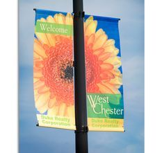 Lamp Post Banner With Wind Spilling Brackets By Britten