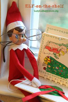 Super simple!  Christmas Fun with our Elf-on-the-Shelf! - Busy Kids=Happy Mom