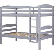 Mainstays Twin Over Twin Wood Bunk Bed, Multiple Finishes Image 4 of 40