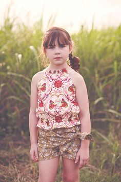 Kids Dress Collection, Tie Shorts, Swing Top, Quilting, Slim, Sewing, Fabric, Baby, Ideas