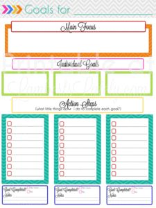 Planning Notebook Add-On: Monthly Goal Setting This site has so many printable planner pages! This is a goal setting page, and she has links to calendars too. Available for free!Setting Setting may refer to: Goals Planner, Life Planner, Happy Planner, Planner Ideas, Budget Planner, Goals Template, Business Plan Template, The Plan, How To Plan