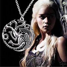 Retro Men's Game of Thrones Targaryen Dragon Necklace - GBP £2.18