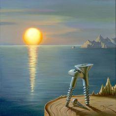 Magic of The Sunset. Vladimir Kush. Surrealist Artist. Painting. Modern Contemporary Art. Surrealism.