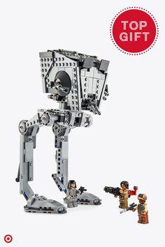 LEGO Star Wars AT-ST Walker is the perfect Christmas gift for die-hard Star Wars fans on your list, young and old. This top gift is complete with posable legs, a wheel-activated turning top section, opening cockpit, detailed minifigure interior and dual spring-loaded shooters.