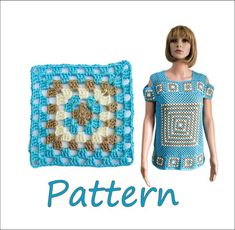The cold shoulder top pattern is for beginners. It suitable in sizes S - XL and includes charts, written instructions, assembly diagrams and step-by-step tutorial on how to crochet this lovely turquoise open shoulder top.