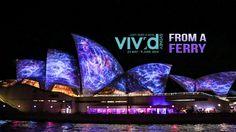 Sydney Vivid light show 2014 from a ferry - 4K Timelapse