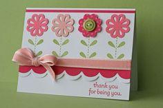 SU Blossom Bouquet Triple Punch Card - bjl