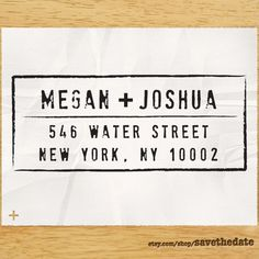 CUSTOM ADDRESS STAMP  Eco Friendly & self inking by savethedate, $23.95.  I love the look of this stamp for wedding stationery.