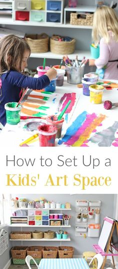 How to Set up a Kids Art Space in a Way that Fosters Creativity and Independence