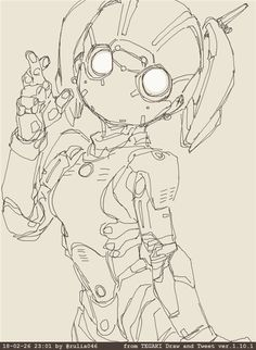 Shirow used to say more or less If a killing robot has female appearance it could be more difficult to a male operative to pull the trigger Robot Sketch, Anime Sketch, Manga Robot, Character Concept, Character Art, Fantasy Character Design, Robots Drawing, How To Draw Robots, Robots Characters