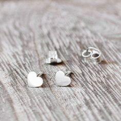 Kolczyki serduszka od EA ✨#earrings #silver #hearts #minimalism Minimalism, Hearts, Stud Earrings, Jewellery, Silver, Jewels, Stud Earring, Schmuck, Earring Studs