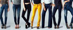 Модные женские джинсы и брюки