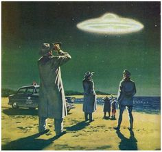 SIGHTING! https://www.pinterest.com/maythefork/sci-fi-retro-vintage/ https://www.pinterest.com/innovari/ufo-alien-art/