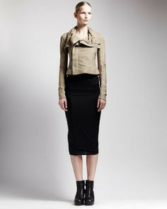 Rick Owens Long Tube Skirt on shopstyle.com