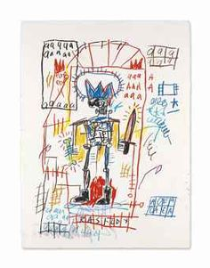 Basquiat drawing from 1982 [76.2x55.9cm] being auctioned at Christie's in Nov'16