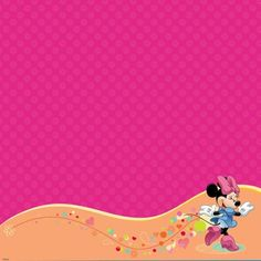 Minnie Mouse Pink 12x12 Scrapbooking Glittered Paper