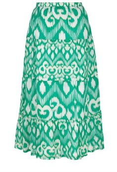 Avenue Plus Size Crinkle Print Tiered Maxi Skirt $12.96