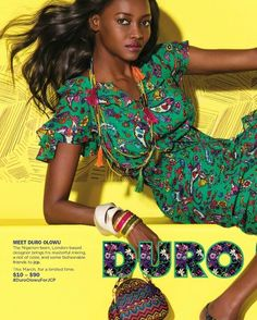 """Duro Olowu, Nigerian designer based in London. I'm a big fan of his stylish, bold creations! I love how he works with colours and shapes. I love his use of patterns and sometimes how he uses African patterns to create elegant, unique really chic pieces! One of his biggest fans is Michelle Obama, she's been spotted in his dresses! His latest collection is available at JC Penney in the states. They describe his collection as """"…a riot of pattern and colour"""" I LOVE IT! I'm guessing this is a…"""