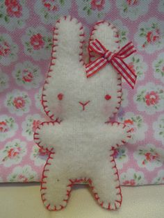 Felt Easter bunny from Ruby Red Crafts on etsy.