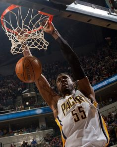 Roy Hibbert #55 of the Indiana Pacers.