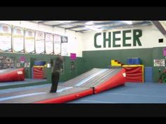 Attract more athletes to your gym! Accelerate learning of tumbling skills! Build confidence and overcome the FEAR FACTOR! Dream Gym, Tumbling Gymnastics, Tumbling Blocks, Cheer Coaches, Dance With You, Cheer Stuff, Gym Stuff, Gym Design, Confidence Building
