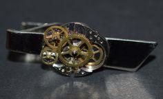 Men's Vintage Watch Gears Steampunk Tie Clip by Marinellisart, $24.99